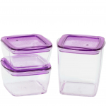 Square Crystal Container Set