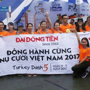 DAI DONG TIEN Co-operate And Sponsor For Turkey Dash 5 Charity Funding Program